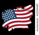 usa flag grunge style on black... | Shutterstock .eps vector #422204485