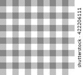 black seamless gingham pattern | Shutterstock .eps vector #422206111