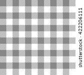 black seamless gingham pattern | Shutterstock .eps vector #422206111