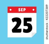 calendar icon flat september 25