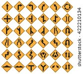 traffic sign set isolated... | Shutterstock .eps vector #422210134