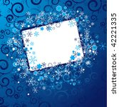 xmas frame | Shutterstock .eps vector #42221335