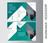 green elegance business trifold ... | Shutterstock .eps vector #422223109