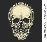 dotwork styled skull with...   Shutterstock .eps vector #422231269