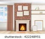 interior living room with... | Shutterstock .eps vector #422248951