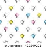 Light Bulb Seamless Background
