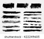 vector brush strokes.hand drawn ... | Shutterstock .eps vector #422249605