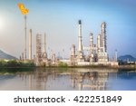 oil and gas refinery plant with ... | Shutterstock . vector #422251849