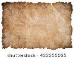 old pirates treasure map... | Shutterstock . vector #422255035