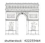hand drawn architecture sketch...   Shutterstock . vector #422255464