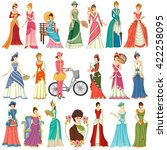 vector design of collection of... | Shutterstock .eps vector #422258095