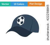 football fans cap icon. flat...