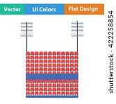 stadium tribune with seats and...