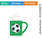 football fans coffee cup with...