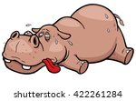 vector illustration of cartoon... | Shutterstock .eps vector #422261284