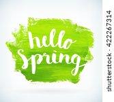 hello spring phrase hand paint... | Shutterstock .eps vector #422267314