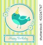greeting template cute children'... | Shutterstock .eps vector #422267767