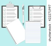 illustrated clipboard with... | Shutterstock .eps vector #422271997