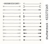 hand drawn  line border set and ... | Shutterstock . vector #422272165