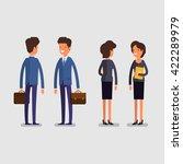 business concept. cartoon... | Shutterstock .eps vector #422289979