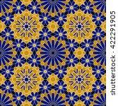 zellige tile. moroccan seamless ... | Shutterstock .eps vector #422291905