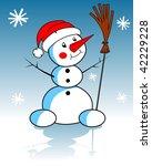 xmas snowman | Shutterstock . vector #42229228