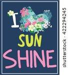 flowers print slogan. for t... | Shutterstock .eps vector #422294245