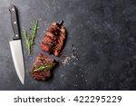 grilled striploin sliced steak...   Shutterstock . vector #422295229