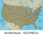 usa map with federal states.... | Shutterstock .eps vector #422298211