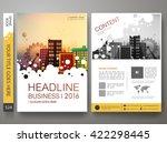 brochure design template vector.... | Shutterstock .eps vector #422298445
