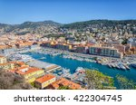 Panoramic View Of Nice Port An...