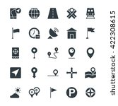 map and navigation cool vector...   Shutterstock .eps vector #422308615