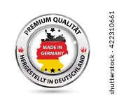 premium quality. made in... | Shutterstock .eps vector #422310661