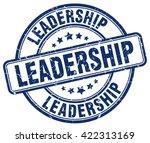 leadership. stamp | Shutterstock .eps vector #422313169