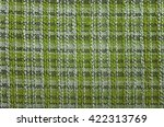 texture of green tartan fabric... | Shutterstock . vector #422313769