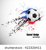 soccer deign. design for france ... | Shutterstock .eps vector #422320411