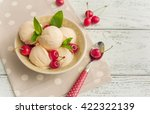 vanilla ice cream with cherries ... | Shutterstock . vector #422322139