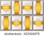 set of luxury gold artistic... | Shutterstock .eps vector #422326375