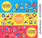 summer travel infographic icons ... | Shutterstock .eps vector #422328385
