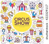 premium quality circus outline... | Shutterstock .eps vector #422329117