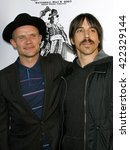 Small photo of Flea and Anthony Kiedis of Red Hot Chili Peppers at the 3rd Annual Hullabaloo to benefit the Silverlake Conservatory of Music held at the Henry Ford Music Box Theater in Hollywood, USA on May 5, 2007.