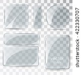 a set of glass plates. flat... | Shutterstock .eps vector #422330707
