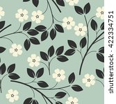 Seamless Pattern With  Bouquet...