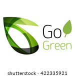 abstract eco leaves logo design ... | Shutterstock .eps vector #422335921