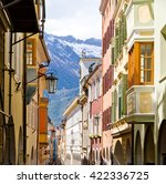 city of bozen  south tyrol  ... | Shutterstock . vector #422336725