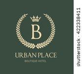 urban place b letter hotel logo ... | Shutterstock .eps vector #422338411