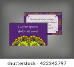 set of business card  flyer... | Shutterstock .eps vector #422342797