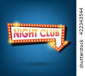 night club billboard. retro... | Shutterstock .eps vector #422343544