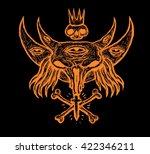 mystic symbol  with  moon ... | Shutterstock . vector #422346211