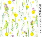 watercolor seamless floral... | Shutterstock . vector #422346649